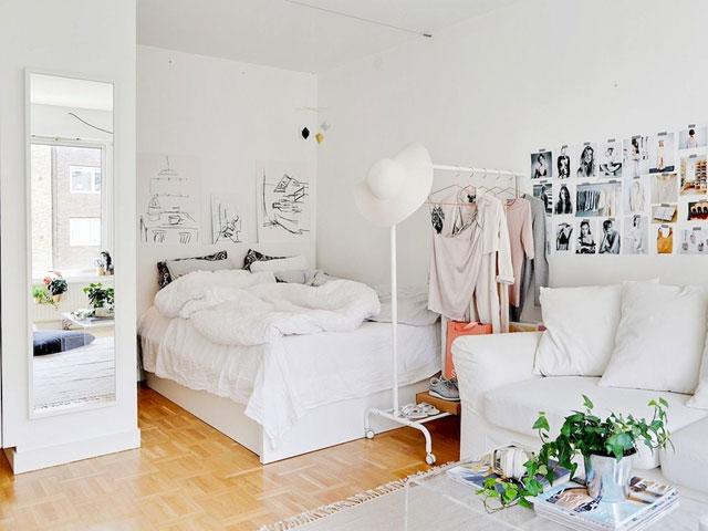 phòng ngủ liền phòng khách