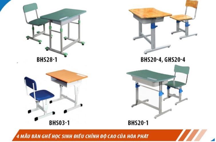 bàn ghế Hòa Phát dành cho học sinh